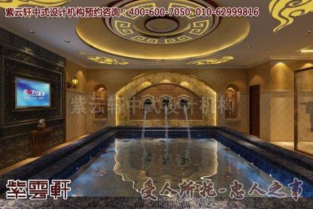 古典会所中式装修效果图之浴室