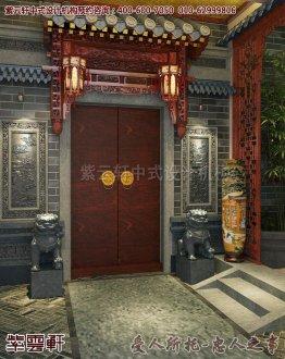 兴化私人豪华会所中式装修图片之门头