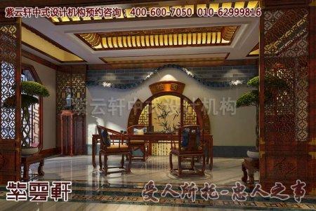 某私人会所古典中式装修茶室效果图
