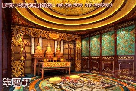 紫云轩某别墅中式装修佛堂设计效果图集锦