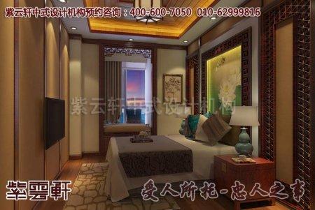 重庆某客户中式家装之卧室装修设计