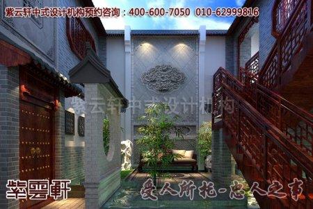 郑州古典会所中式装修案例之外景一角