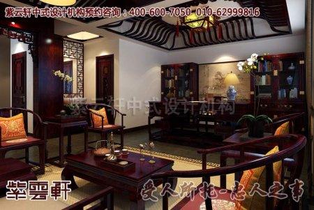 郑州古典会所中式装修案例之中堂