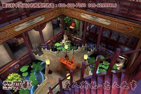 北京湾古典别墅中式装修之二楼俯视设计案例图