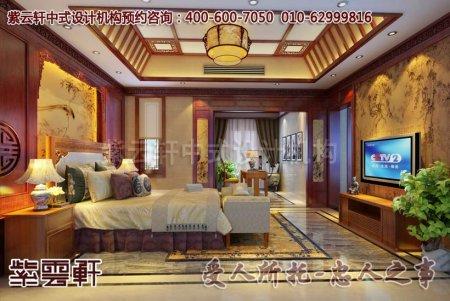 古典中式家装效果图之卧室设计一角