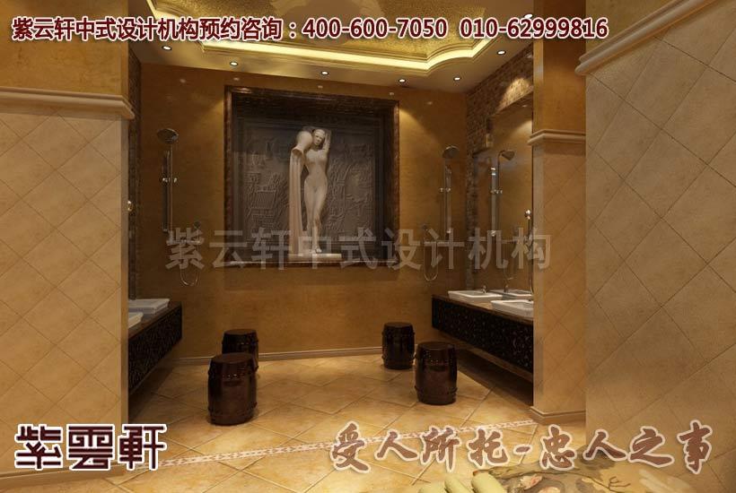 洗手间中式装修效果图2