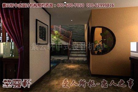 公装会所中式风格装修之楼梯效果图赏析