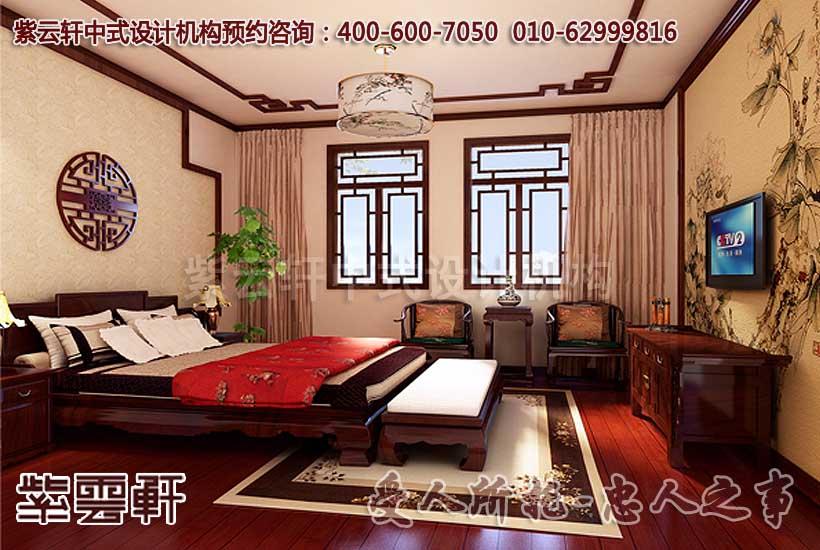 现代中式风格别墅装修之卧室效果图赏析图片
