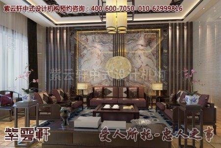 别墅中式装修之客厅及卧室效果图赏析