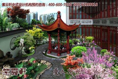 某客户豪宅别墅中式装修之庭院效果图