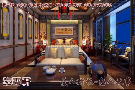 别墅现代中式风格装修之卧室效果图赏析