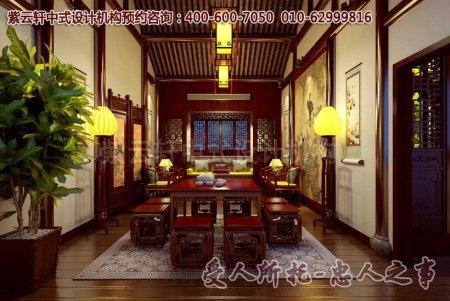 古典风格茶楼中式装修之茶室效果图