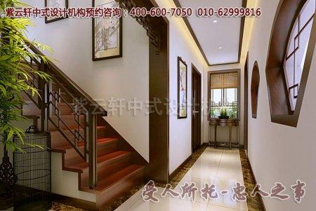 别墅中式装修之过道及楼梯效果图赏析