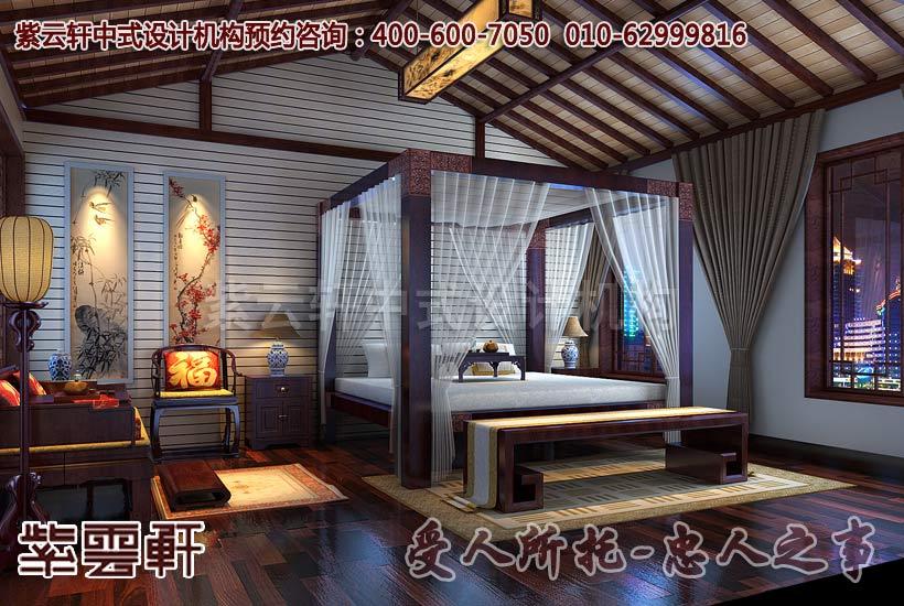 简约风格别墅中式装修之卧室效果图