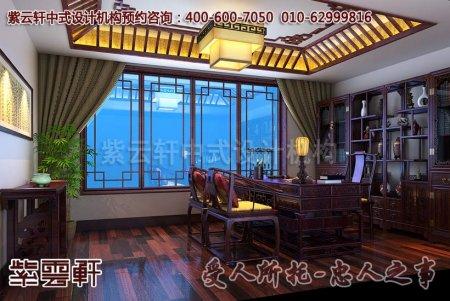 豪宅别墅中式装修之书房及卧室效果图
