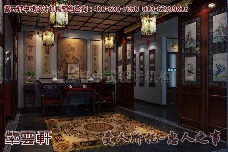 酒店中式装修之中堂及过道效果图片