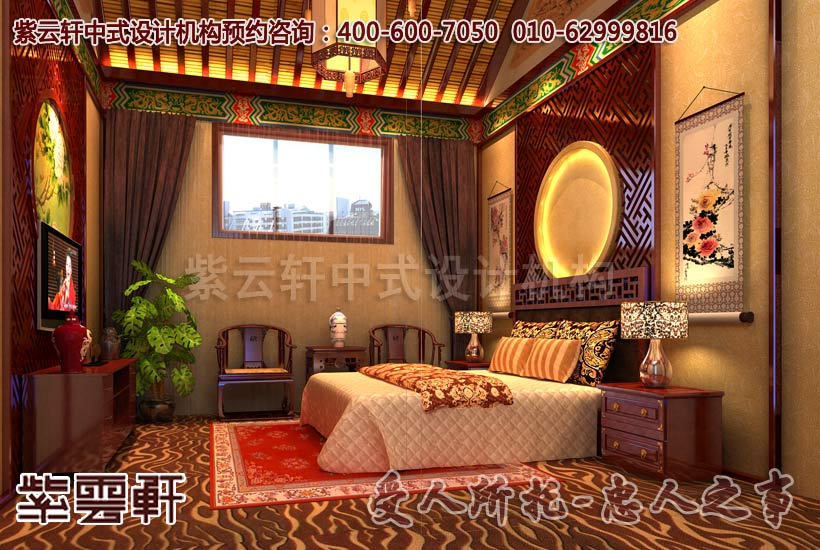 简约风格会所中式装修之卧室及佛堂图片