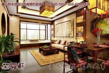 精品住宅家装中式装修之客厅效果图片