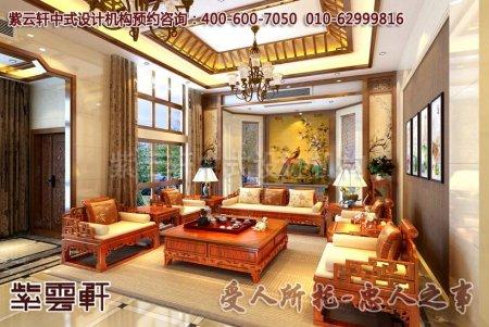 现代风格别墅中式装修之客厅图片赏析