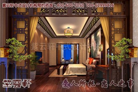 简约风格别墅中式装修之卧室效果图片