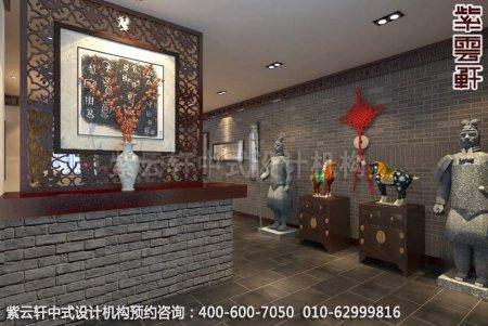 上海某客户办公室中式装修案例-过道