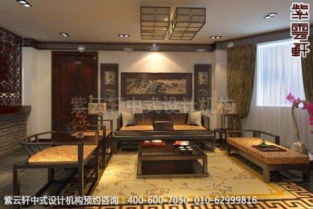 上海某客户办公室中式装修案例-洽淡区