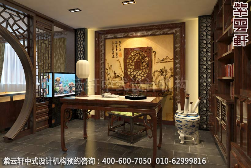 上海某客户办公室中式装修案例-办公区图片