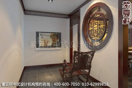 上海某客户办公室中式装修案例-休息过道