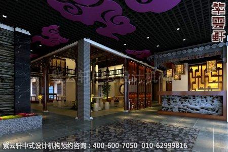 铜陵私人会所古典中式装修风格之大厅效果图①