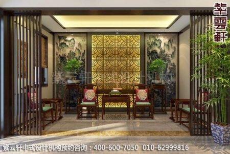 浙江金华别墅古典中式装修中堂效果图图片