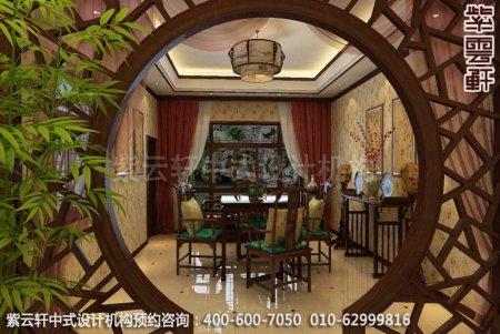 苏州西山别墅中式装修茶室效果图欣赏