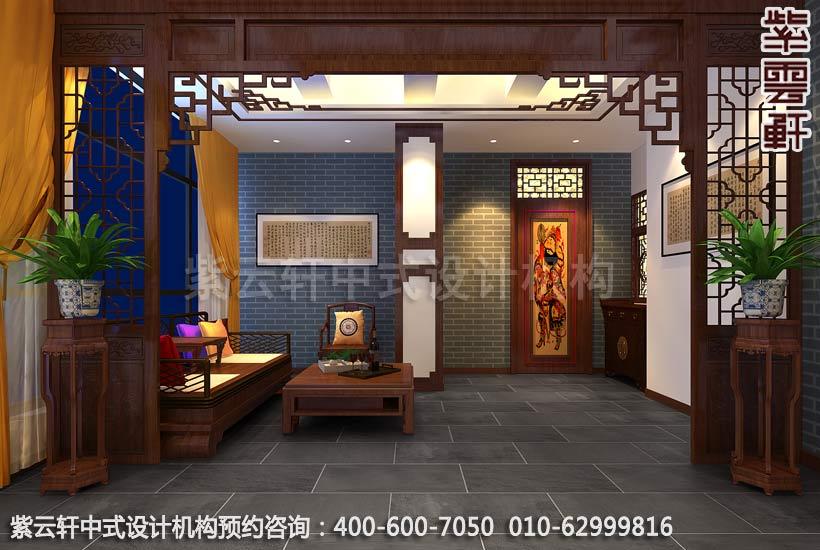 西寧某餐廳現代中式風格包廂裝修效果圖一_紫云軒中式