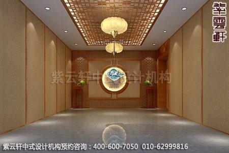 常州快捷酒店中式装修之过厅效果图