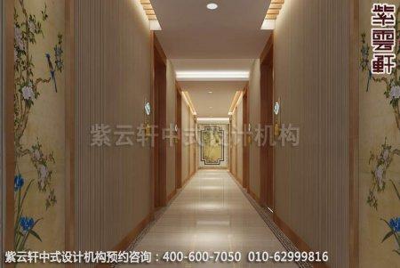 常州快捷酒店中式装修之走廊过道装修效果图