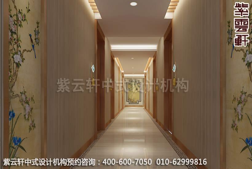 常州快捷酒店中式裝修之走廊過道裝修效果圖