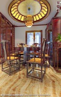 无锡精品住宅简约中式装修之餐厅效果图