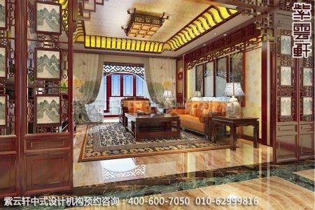 无锡精品住宅简约中式装修之客厅效果图
