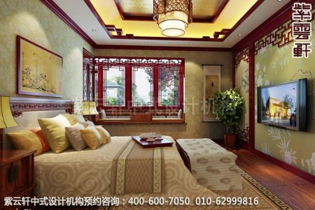 无锡精品住宅简约中式装修之主人卧室效果图