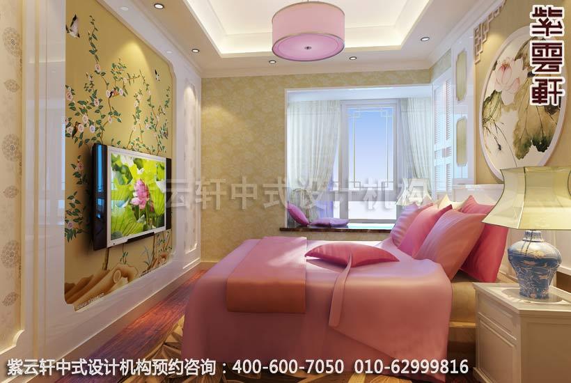无锡精品住宅简约中式装修之女孩房间效果图