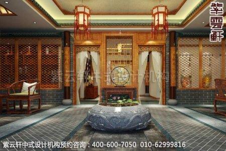 上海中医养生馆中式装修之瑞景区装修效果图