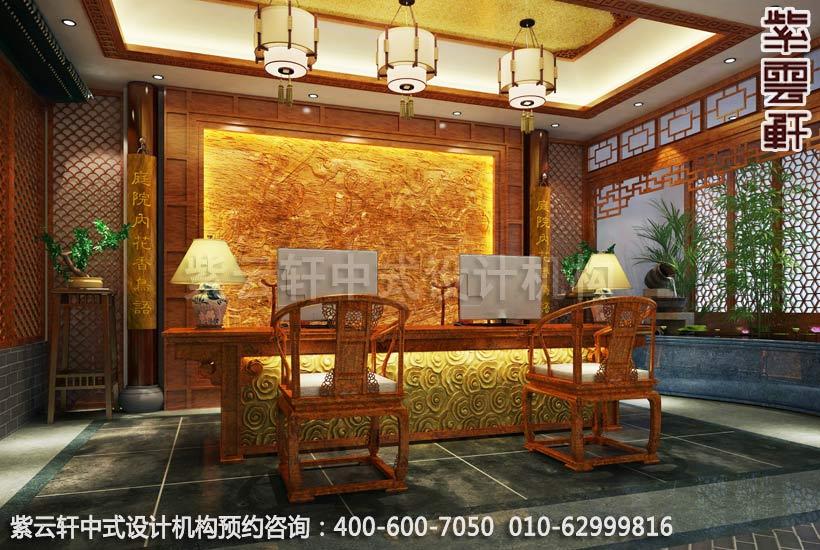 上海中医养生馆中式装修之接待台装修效果图