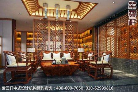 上海中医养生馆中式装修之休息区装修效果图