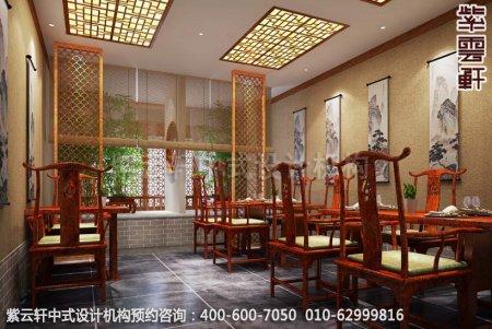 上海中医养生馆中式装修之餐厅区装修效果图