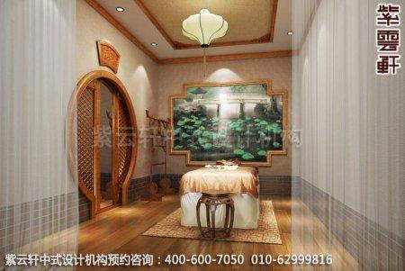 上海中医养生馆中式装修之理疗室装修效果图