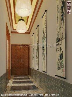 上海中医养生馆中式装修之走廊过道装修效果图