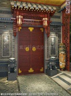 古典风格装修,章总豪宅别墅中式装修之玄关装修效果图