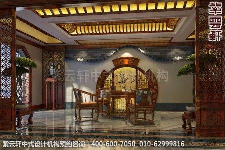 古典风格装修,章总豪宅别墅中式装修之茶室装修效果图