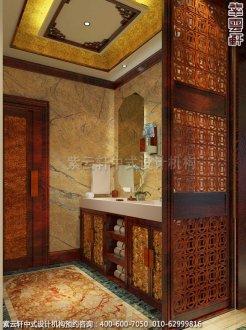 古典风格装修,章总豪宅别墅中式装修之梳洗区装修效果图