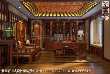 古典风格装修,章总豪宅别墅中式装修之书房装修效果图