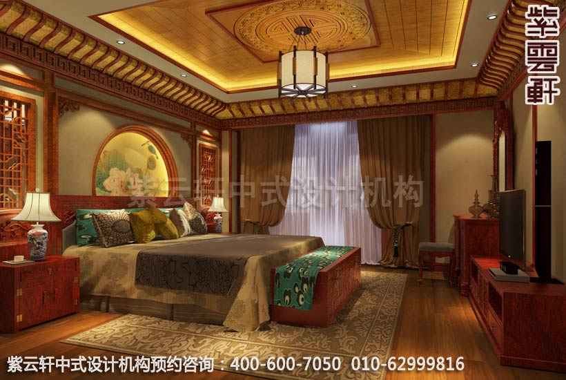 古典风格装修,章总豪宅别墅中式装修之卧室装修效果